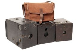 Group of Three Large Box Cameras. To include Kodak No 2 Bullet (condition 5/6F) and an uncommon