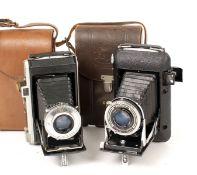 Two Kodak Folding Roll Film Cameras inc Regent CRF model. (condition 5F). (From the Bob White