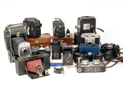 A Collectors End-Lot, With Pathescope Cine, Polaroid Model 150, Iloca Stereo etc. Conditions vary