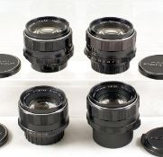 Group of Four Pentax M42 Screw Mount Standard Lenses. Comprising two Super Takumar 50mm f1.4 (#
