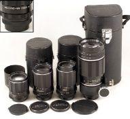 Group of Four Pentax M42 Screw Mount Lenses, inc Ex-WD Example. Comprising Super Takumar 105mm f2.8;