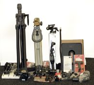 A Good Selection of Camera Tripods & Accessories. To include Uniloc Major (blatant copy of Benbo