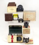 Good Selection of Rolleiflex Accessories. To include full hood and filter set, Rolleifix tripod