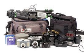 Quantity of Nikon Equipment and a Olympus Mju II. To include Nikon F90x with 35-70mm zoom (shows