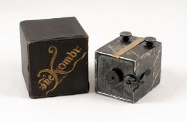 Tiny Metal Bodied Kemper Kombi Camera. Launched in the USA around 1893, making it probably the first