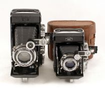 Two Zeiss Ikon Super Ikonta Cameras. Super Ikonta 531/2 with Tessar f3.5 105mm (condition 5F) and