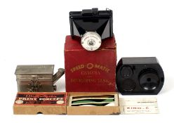 Rare Speed-O-Matic 'Almost Instant' Print Camera Outfit. (condition 5F) Also French Bakelite Kino-