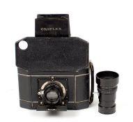 National Graflex Camera with B&L f4.5 Lens & Additional, Rare 140mm f6.3 Telephoto Lens. (