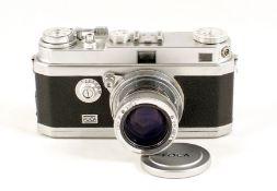 OPL Foca Universelle R Rangefinder Camera. Lever wind version (condition 5F) With Oplarex f1.9 5cm