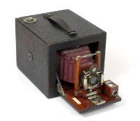 'The Bullard', Folding Hand Camera. By Bullard Camera Co, USA. An unusual magazine arrangement for