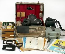 An Extensive 3-Lens Arriflex 16mm Cine Camera Outfit. #7910. To include camera body (unable to test)