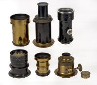 ANNOUNCE description change. Group of 6 Brass & Other Lenses, Grubb, Watson & Sons, Busch, Gorez etc