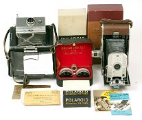 Polaroid Model 95 & 100 Cameras & Accessories. To include a good example of a Model 95 - the first