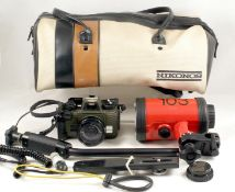 Nikon Nikonos V Underwater Camera Outfit. To include camera with Nikkor 35mm f2.5 lens (fires OK but
