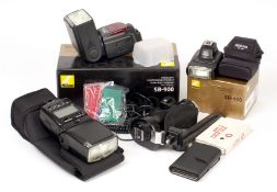 Selection of Nikon Speedlite Flash Units. Comprising SB-900 and SB-400 units in makers boxes and a