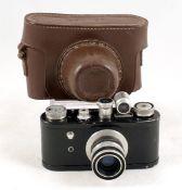 Black Corfield Periflex 1 Camera. (condition 5F). With Lumar-X 50mm f3.5 lens. #3434. With torpedo