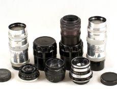 Group of Russian Jupiter & Other L39 Fit Lenses. Comprising 2x Jupiter 11 135mm f4; N-61 50mm f2.