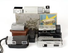 Collection of 16mm Sub-Miniature Cameras. Comprising Edixa with working meter; Mamyia 16, Yashica 16