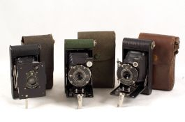Three Kodak Vest Pocket Cameras, inc Boy Scout Model in Original Case. (all condition 4/5F). (From
