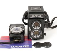 A Good Chinese Seagull TLR Camera #05227. (condition 3/4F) with Haiou 75mm f3.5 lens and