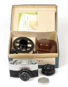 Kragnagorsk Narciss Sub-Miniature SLR Camera Outfit. (condition 5F) To include Vega-M-1 and Industar