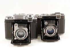 Two Zeiss Ikon Super Ikonta B Cameras. Metered Super Ikonta 533/16 with Tessar 8cm f2.8 (meter