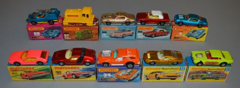 10 Matchbox Superfast diecast models including 4, 6, 16, 20 Lamborghini Marzal, 24, 33, 34, 41