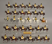 30 Skinners Horse painted metal soldier figures mounted on horseback, unbranded and unboxed, the
