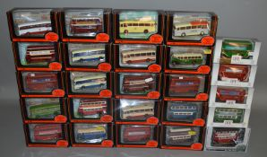 25 boxed EFE Exclusive First Editions diecast bus and coach models in 1:76 scale, including 2 x #