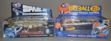 2 Gerry Anderson related diecast models by Product Enterprise, 'Fireball XL5' and 'Space 1999