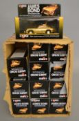 12 boxed Corgi James Bond 007 #96445 Aston Martin DB5 diecast models with gold coloured plated