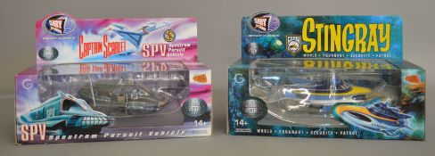 2 Gerry Anderson related diecast models by Product Enterprise, 'Stingray' and 'Captain Scarlet