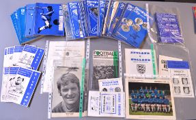 A collection of Birmingham City football programmes, approximately 82 between September 1967 and
