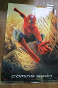 "Spider-man (2002) teaser large rolled double-sided film poster ""Coming Soon"" with Marvel's Spider-"