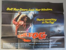 Collection of seven horror genre British Quad film posters to include - The Fog (1980, Dir: John