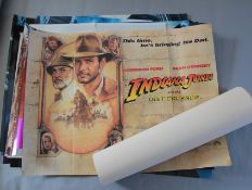 Various cinema posters (most UK Quads) including a Quad for Indiana Jones and the Last Crusade,