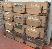 Original James Bond screen used prop IDA Boxes. IDA Ammunition Boxes. IDA ammunition boxes from