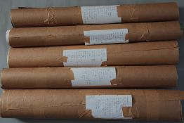 Approximately 75 modern film posters in 5 rolls some are rolled and some are folded, titles are