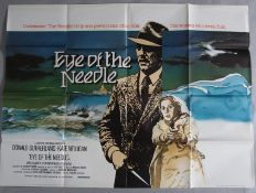 Six British Quad film posters including Eye of the Needle with art by Vic Fair, Fort Apache the