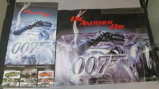 James Bond Die Another Day rolled British Quad from November 2002 smoking gun style (30 x 40 inch)