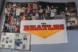 The Beatles linen backed advertising poster (17 x 35 inch) plus two commercial posters pictures John