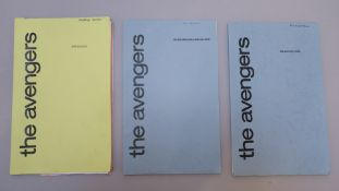 "The Avengers three original scripts including ""Noon-Doomsday"" by Terry Nation for ABC Television"