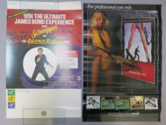 James Bond promotional posters including Schweppes Licence to Kill competition video poster