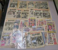 Collection of Boxing News papers from 1964, 65, 67, 69, 75, etc including photos of Henry Copper,