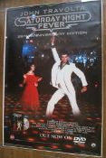 Saturday Night Fever 25th anniversary DVD release advertising poster picturing John Travolta (