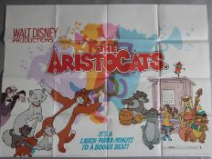 Seven British Quads including Walt Disney's Aristocats (1979 cinema re-release), Sleeping Beauty (