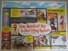 "Film posters including ""Those Magnificent Men in their Flying Machines"" 1965 first release British"