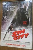 Sin City set of five different rolled double-sided teaser large film posters each measuring 47 x