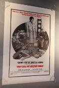 They Call Me Mister Tibbs Original 1970 US one sheet film poster starring Sidney Poitier as Virgil