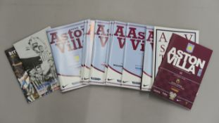 Aston Villa football club matchday programmes including Heroes and Villains fan programmes, from